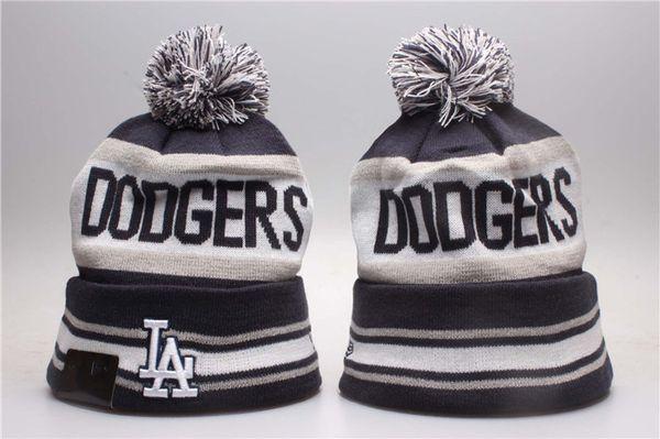 One Piece Cheap Dodgers Baseball Beanies Team Logo Embroidered Los Angeles LA Cuffed Knit Hat Sport Skull Men Women Winter Caps