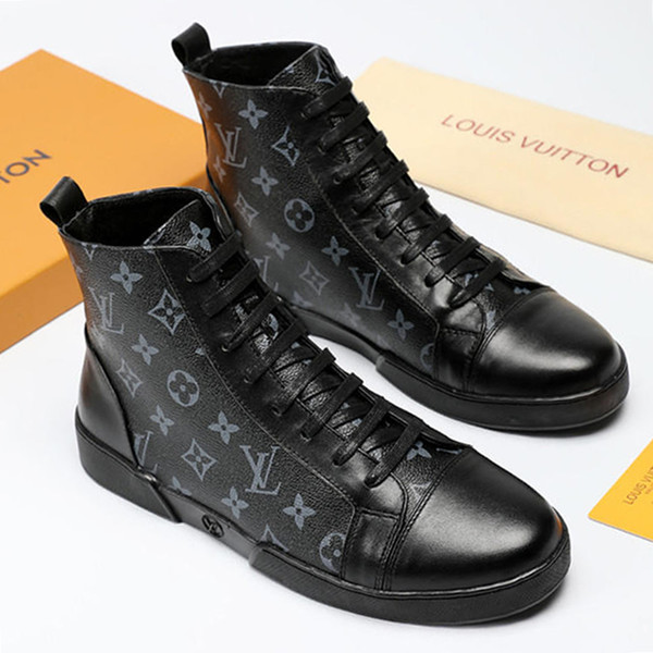 best selling Top Quality Luxury Mens Shoes Fashion Drop Ship New Arrival High Top Men Lace up Zapatos de hombre Vintage Men's Breathable Casual Shoes