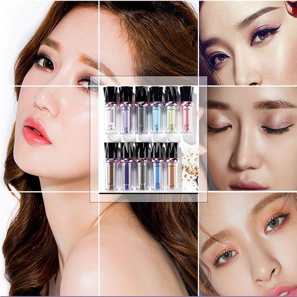 Tek Rulo Renkli Göz Farı paleti Glitter Pigment Gevşek Göz Farı Makyaj Kore kozmetik çıplak pırıltılı palet