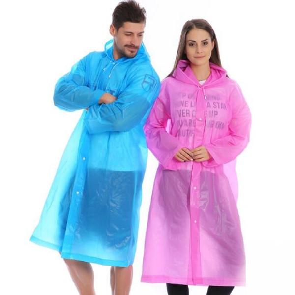 Raincoat Transparent Men/Women Universal Waterproof Rain Coat Fashion EVA Poncho Raincoat Rainwear Adult Poncho Outdoor #319362