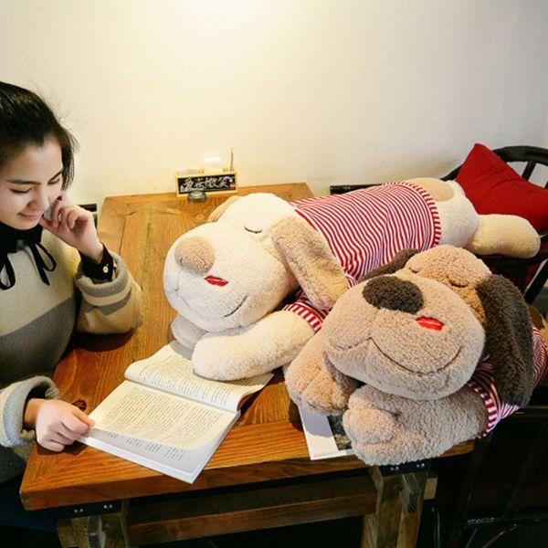 90-150cm Cute Big Ear Dog Plush Toy Stuffed Soft Animal Cartoon Pillow Lovely Christmas Gift for Kids Kawaii Valentine Present