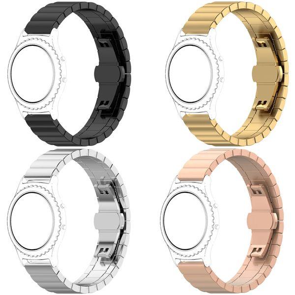 Luxury Stainless Steel bracelet band for Samsung galaxy watch 46mm gear S3 Gear2 R380 Neo R381 Live R382 Strap Smart Watch Metal Watchband