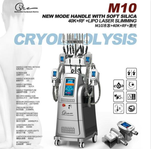 Горячий продавать Cryolipolysis машина для похудения 2019 с 4 ручками Cryo Замораживание жира Лучшая охлаждающая машина Удаление жира 2 года гарантии