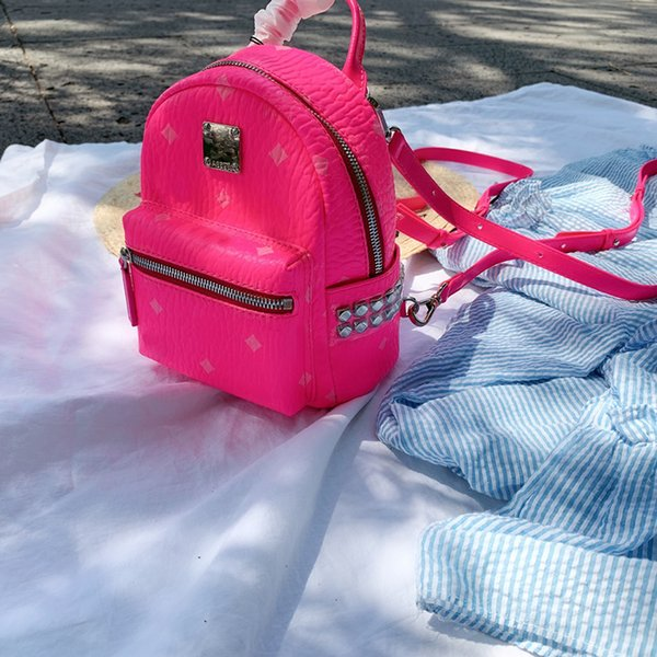 Pink Sugao backpack luxury designer backpack for women girl high quality fasgion style good leather 2019 new style backpack women school bag