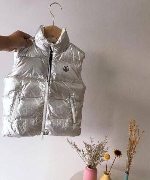 High Quality M brand Kids Winter Thicken Vests cartoon pictures Baby 90% Duck Down Jacket Waistcoat Coat For Children