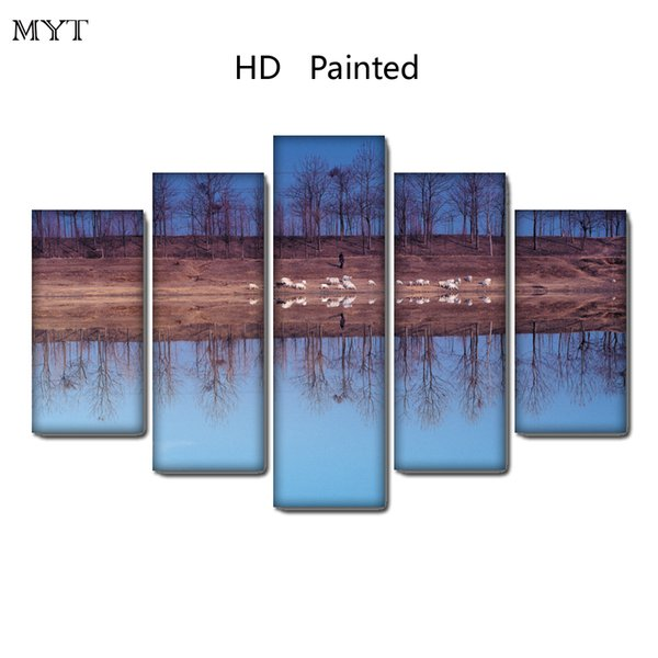 HD spray Printed Oil Painting on canvas winter landscape home decor for Living Room Wall art picture on Canvas no framed
