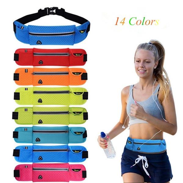 QUBABOBO 2L Men/Women Outdoor Running Waist Bags Waterproof Nylon Running Belt Accessory Gym Bags Sports Fitness Packs For Music
