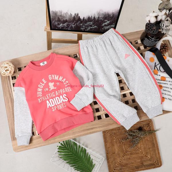 Enfants manches longues set automne enfants vêtements de créateurs sweat + pantalons de survêtement 2pcs modèle de bande dessinée en coton set set push