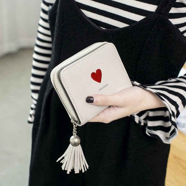 Da Donna PU Amore Cuore Portafogli Donna Portamonete Ragazze Di Marca Stile Borsa