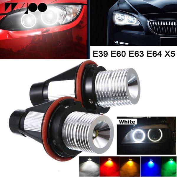 2 ADET 10 W LED Cips LED Işaretleyici Melek Gözler araba far Beyaz mavi Kırmızı Sarı Renk için BMW X5 E39 E53 E60 E61 E63 E64 E66 E87 E83