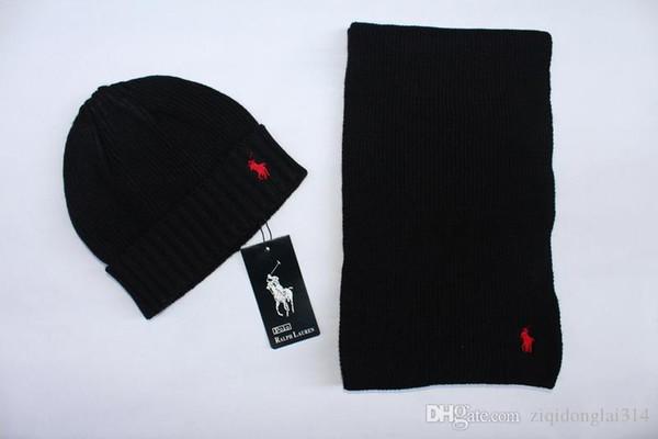 Erkekler kadınlar için kış marka şapka ve eşarp setleri sıcak tasarımcı örme kasketleri eşarp ve şapka setleri 2019