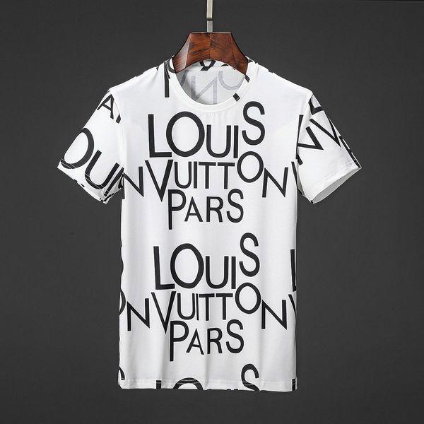 T-shirt d'été de luxe Designer Noir Blanc Shirt Hommes Femmes manches courtes T-shirt unisexe Hip Hop T-shirts SIZEM-3XL