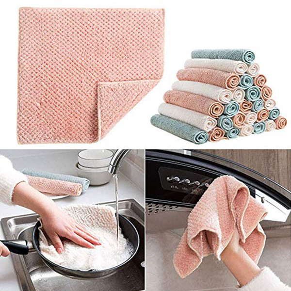 Durable Multifunction Kitchen Rag for Soft Family for Woman Dishwashing Towel Outdoor Kitchen Towel Hotel