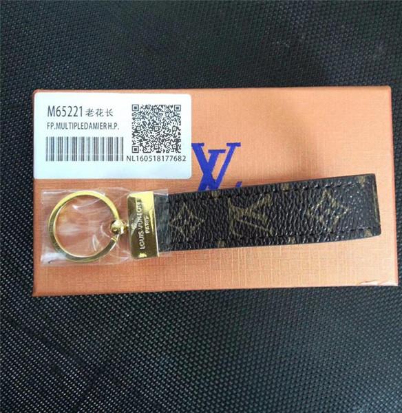 Hohe qualität Luxus Keychain Schlüsselanhänger Schlüsselanhänger Halter Marke schlüsselanhänger Porte Clef Geschenk Männer Frauen Souvenirs Auto Tasche mit box