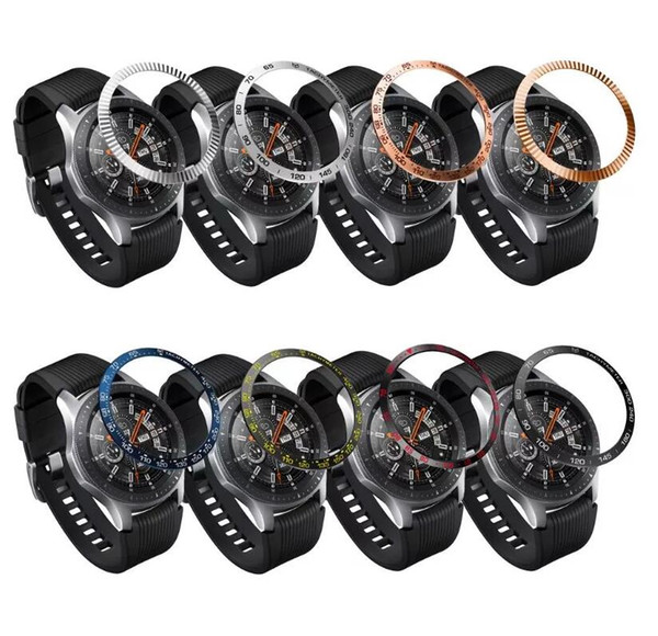 Stainless Steel for Samsung Galaxy/S3/S2 Frontier WATCH for Wristwatch Bezel Ring Adhesive Cover Scratches Smart Watch 42/46mm