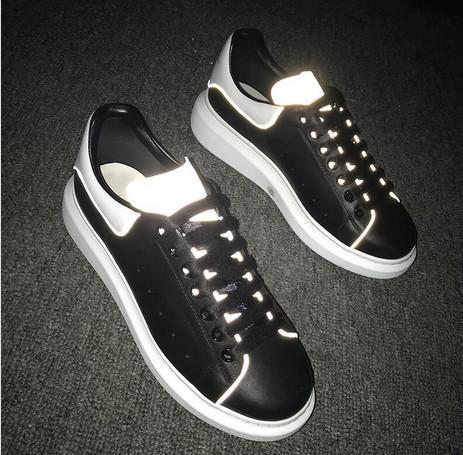 Zapatillas de deporte de gran tamaño designe de lujo de la mejor calidad para hombres, mujeres, cuero real, caja original, zapatos de diseñador, zapatillas de deporte casuales, blancas y negras