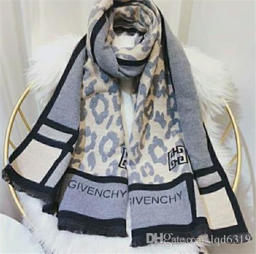 France top Designer Leopard Print fashion Given style brand printing Scarf cotton Pashmina scarfs for womens womans winter Wool Scarves
