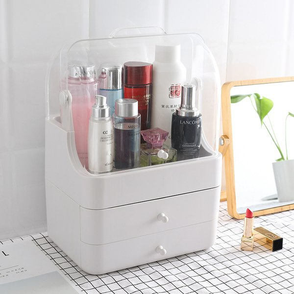 SAFEBET Drawer Makeup Organizer Detachable Penguin Cosmetic Storage Box Waterproof Desktop Organizer Transparent Beauty Boxes