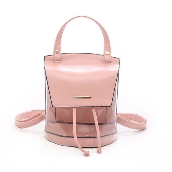 Многофункциональные милые прозрачные прозрачные дамы рюкзак PVC + PU Jellÿ цвет студент мешок моды Ita девочка девушка сумка рюкзак