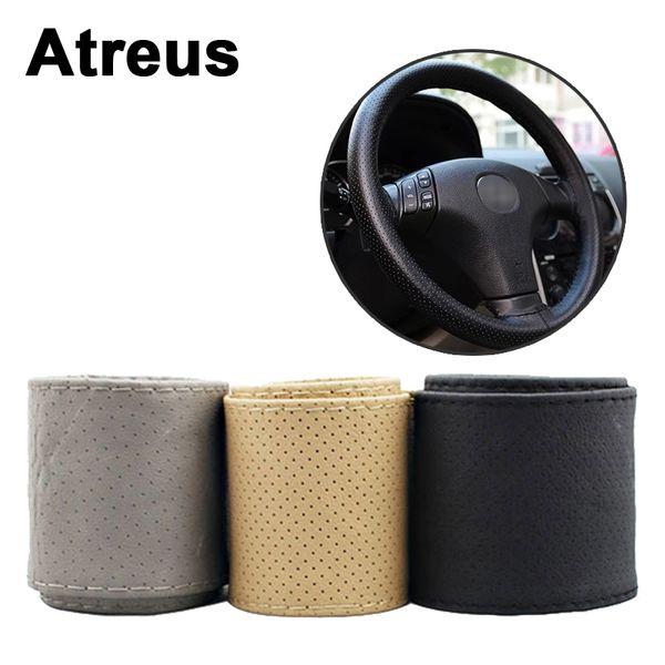 Atreus 1X Car steering wheel covers rims Genuine styling for Cruze Aveo Captiva Lacetti C4 C5 C3 Seat Leon
