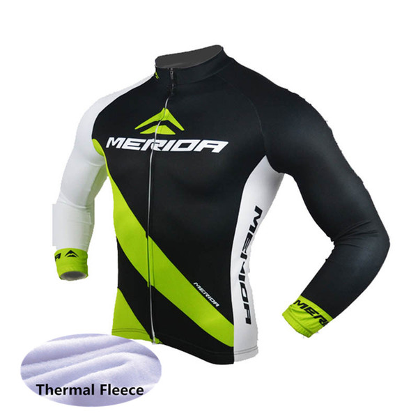 MERIDA team Cycling Winter Thermal Fleece jersey Comfortable Outdoors Sports Tops Bike Wear Clothes Long sleeve mens Ropa de ciclismo Y53032
