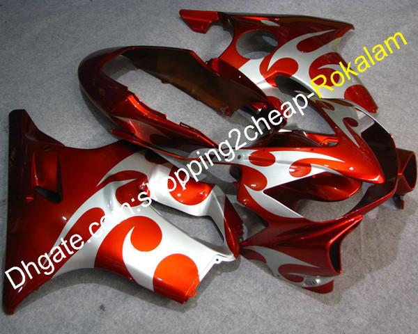 Kit de couvercles pour Honda CBR600 CBR 600 F4i CBR600F4i 2004 2005 2006 2007 Moto Parts Kit Carénage Personnalisé Orange Blanc (Moulage par injection)