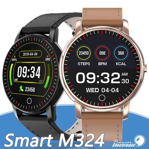M324 da banda pulseira Touch Tracker 1,04 polegadas de tela Compatível Smartwatch chamada de lembrete Cardíacos com pacote de varejo