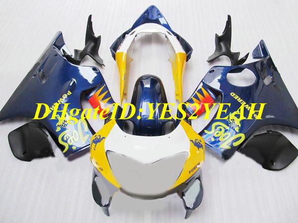 Injection mold Fairing kit for Honda CBR600F4 99 00 CBR600 F4 1999 2000 ABS blue yellow white Fairings set+Gifts HJ19