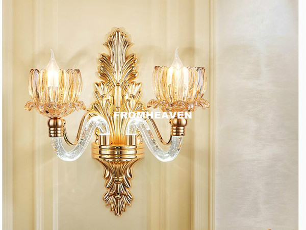 2019 Golen Crystal Wall Bracket European Home Light Modern Decora Wall  Sconces Home Living Bedroom Dining Room Wall Lamps From Tinger3280, $80.74  | ...
