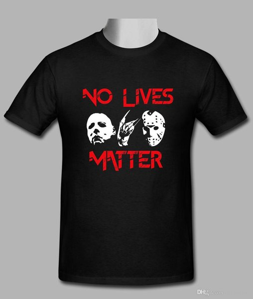 New No Lives Matter Support Dropship black T-shirt size S-2XL T Shirt Men Printed White Short Sleeve Custom XXXL Party T Shirts
