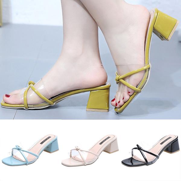 ONTO-MATO Famous Brand Women's Summer Open Toe Slippers Fashion Wild Transparent Sandals High Heel Shoe Dropshipping sandalen