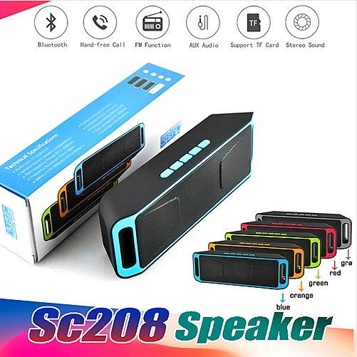 2019 New SC208 Wireless bluetooth speaker portable outdoor audio double horn bluetooth mini speaker support TF/UDisk Multifunction pk i7s