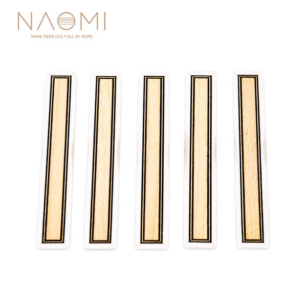 NAOMI 5 PCS Classical Guitar Bridge Tie Blocks Inlay Tie Blocks PVC Inlay Maple PVC Frame Series Guitar Parts Accessories NA-32