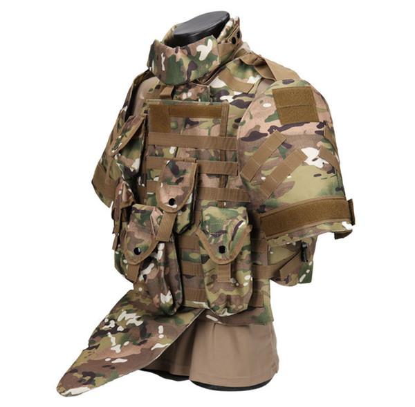 giubbotto di protezione tattico CS Plate Carrier Anfibio Molle Airsoft Combattimento Assault Vest Caccia Protezione quattro in uno Vest Camouflage