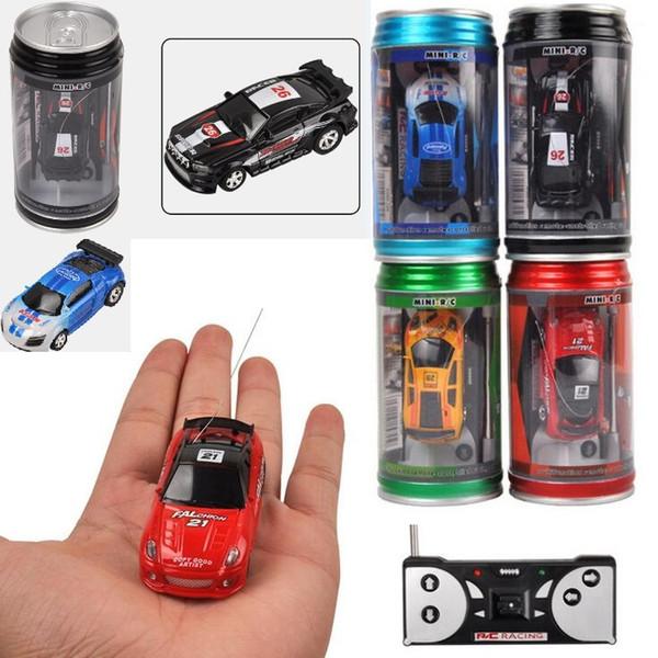 Best Price Mini-Racer Remote Control Car Coke Can Mini RC Radio Remote Control Micro Racing 1:64 Car
