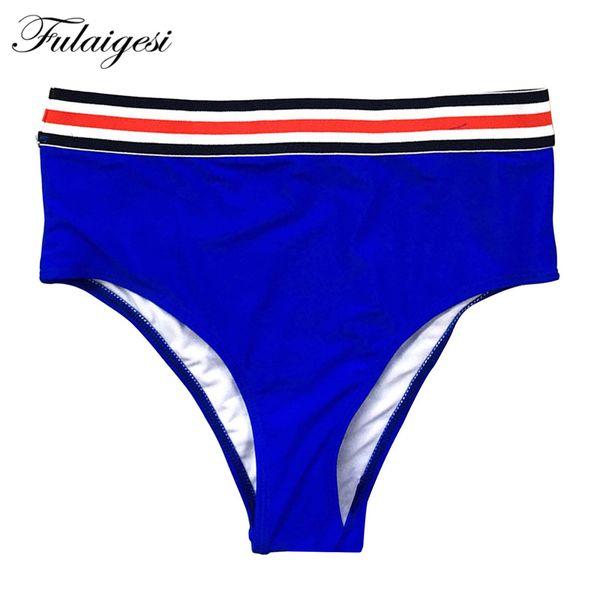 Fulaigesi Sexy Bikini thong Bottom swimwear women hot solid high waist swimsuit separate bathing suit summer swim suit beach new