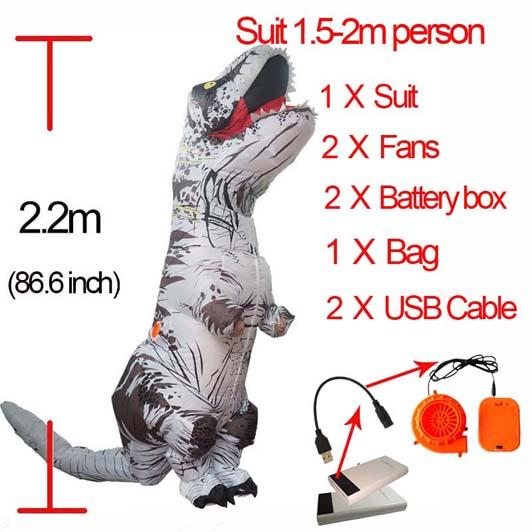 White L Dinosauro gonfiabile