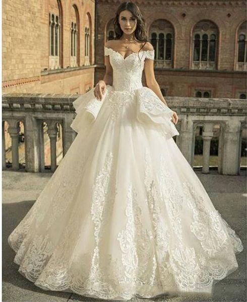 Ball Gown Lace Zuhair Murad Princess Abiti da sposa Sweetheart Drop Waist 2019 Nuovi abiti da sposa Nigeria African Sweetheart GA018