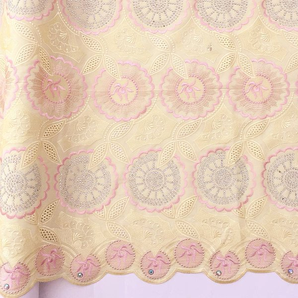 WorthSJLH Latest Swiss Nigeria Voile Lace Fabric Yellow Men African Fabric Lace 5 Yards Purple Indian Dry Cotton Lace Fabric For Wedding