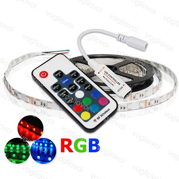 Regulador del LED RGB DC 12V-24V 12A 17key Mini RF remoto inalámbrico Dimmer para 5050 3528 RGB Flexible 144W 288W tira de luz DHL
