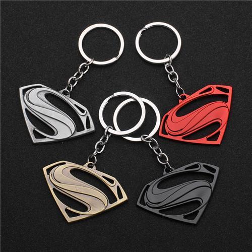17 styles The Avengers Superman Keychain Superhero S Logo Key Chain High Quality Keyring for Women Men Fans Jewelry jssl001