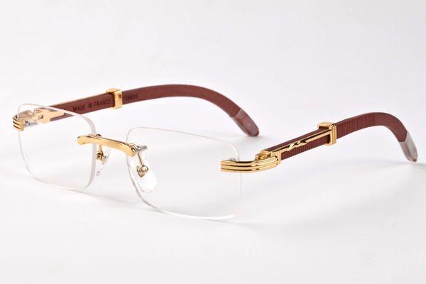 top popular 2020 fashion Rimless Sunglasses Men Wood And Nature Buffalo Horn Mens Driving Shade Eyewear Fashion Mens Sport Glasses Sun Glass 2021