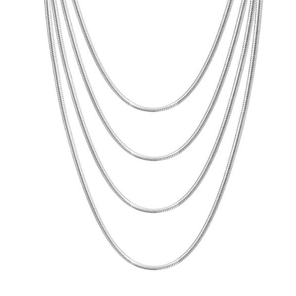 50Pcs 925 Sterling Solid Silver 1MM Rolo Chain Men Women Jewelry Necklace 16-24/'