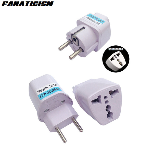 top popular Fanaticism International Universal 2 Pin UK US AU To EU Plug Adapter Brazil Italy Travel Charger Electrical Plug Adaptor Converter Socket 2020
