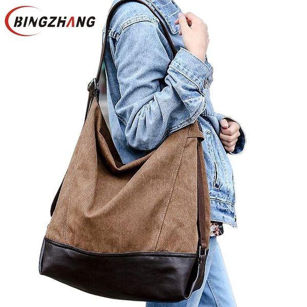 Large Capacity Blast Wave Korean Special Oversized Shoulder Casual Canvas Bag Handbag New Fall Women Handbags L4-781 J190616