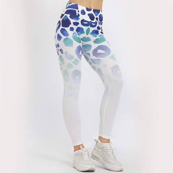 Women Fitness Leggings Ladies Trouser Gradual Printed Elastic Running Yoga Nine-minute Female Sexy Pants spodnie damskie