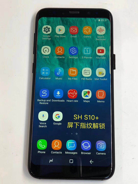 2019 Goophone S9 S10 Unlocked cell phone Quad Core Android 6.0 1G Ram 1G Rom 8G 16G Show Octa core 64GB ROM Show 4G LTE Smartphone