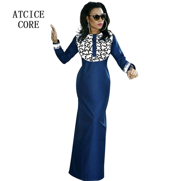 african dresses for women new fashion design african bazin riche embroidery design free shipping clothing