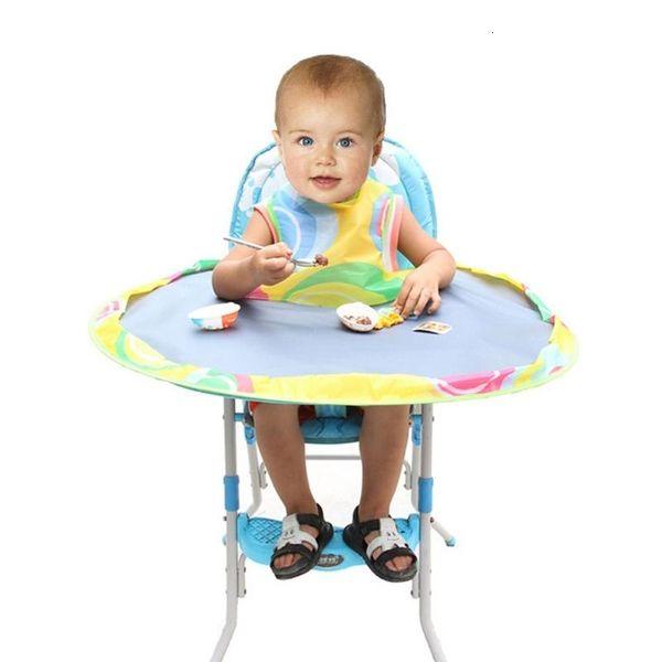Bebek Besleme Saucer Pad Mat sandalyesi Kapak Karşıtı kirli Tablo Pad Su geçirmez Oxford Bezi Yuvarlak Katlama Mama Sandalyesi Yastık CJ191213