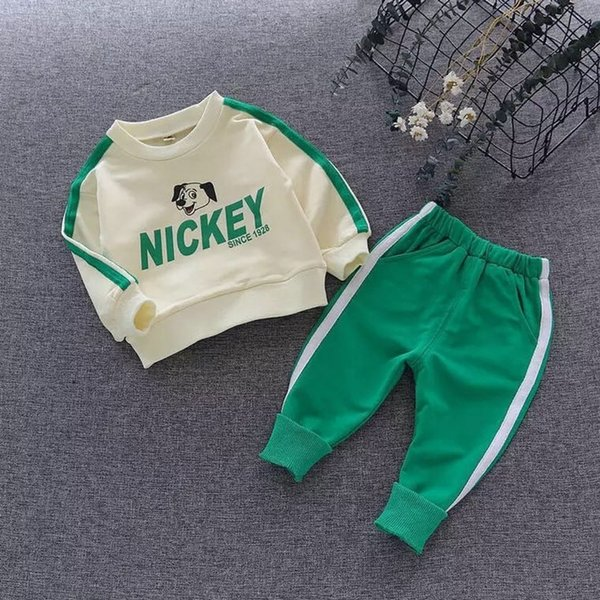 Autumn Suits 2019 Spring Children's Sports Set Boys Cartoon Dog Clothing Sets Fashion Design Children Cotton Sports Outfits